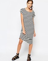Selected Ivy Knee Length Dress in Stripe