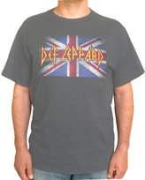 FEA Def Leppard - Vintage Jack Adult Overdye T-shirt in Overdye Charcoal, Size:
