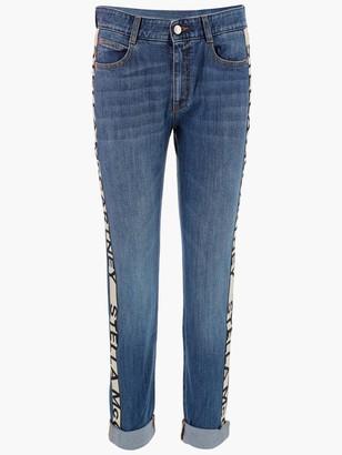 Stella McCartney Stripe-Detailed Skinny Boyfriend Jeans