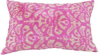 Orientalist Home Mia 16x24 Lumbar Pillow - Magenta/Ivory