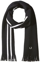 Fred Perry Men's College Stripe Black Scarf