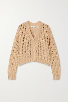 Vince Cable-knit Cotton Cardigan