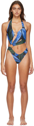 Louisa Ballou SSENSE Exclusive Blue Sex Wax Swimsuit