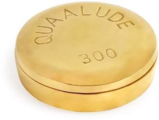 Jonathan Adler Quaalude Brass Pill Box