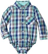 Andy & Evan Gingham Shirtzie (Baby) - Light Green 18-24 Months