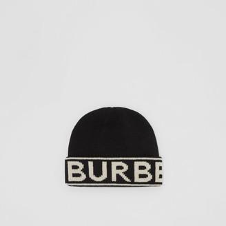 Burberry Logo Intarsia Cashmere Beanie