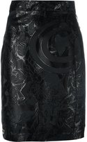 Philipp Plein embroidered pencil skirt