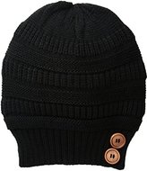 Rampage Women's Slouchy Beanie with Buttons