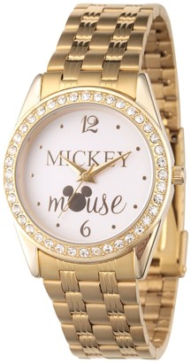 Disney Mickey Mouse Women's Crystal Embellished Watch