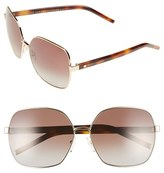 Marc Jacobs Women's 61Mm Polarized Oversized Sunglasses - Gold/ Havana