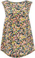 Max Mara Weekend Potenza mini floral sleeveless silk top