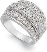 Wrapped in LoveTM Diamond (1 ct. t.w.) Pave Crossover Ring in Sterling Silver