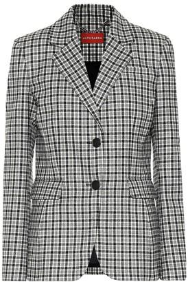 Altuzarra Fenice checked stretch-wool blazer