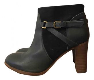 Comptoir des Cotonniers Green Leather Ankle boots