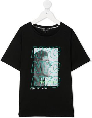 DKNY Graphic-Print Cotton Black