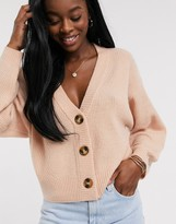 Asos Design DESIGN chunky cardigan with button detail