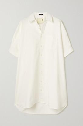 R 13 Oversized Cotton-drill Shirt Dress - White
