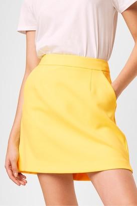 French Connection Adisa Sundae Neon Tailored Mini Skirt