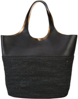 Robert Clergerie Chantal tote bag - women - Raffia/Leather - One Size