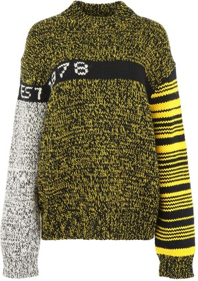 Calvin Klein Jeans Est. 1978 Contrasting Panelled Oversized Sweater