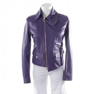 Versace Purple Leather Jacket for Women