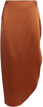 Alix Gotham Asymmetrical Silk Slip Skirt