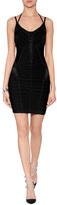 Herve Leger Embellished Hand-Crafted Bandage Dress in Black