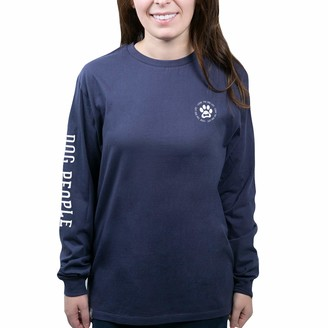 Pavilion Gift Company Pavilion - Life is Better with A Dog - Blue Small Unisex Adult Long Sleeve Shirt
