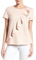 Petite Women's Pleione Asymmetrical Ruffle Sweatshirt