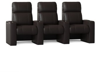Latitude Run Home Theater Sofa (Row of 3 Body Fabric: Ultra Mahogany