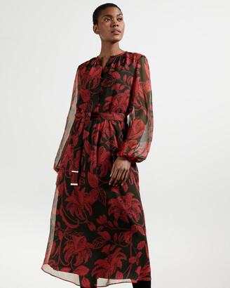 Ted Baker HADLEE Rococo Button Down Midi Dress