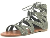 G by Guess Leidah Women Open Toe Canvas Green Gladiator Sandal.