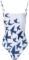 Mara Hoffman Tank One Piece Birds Navy