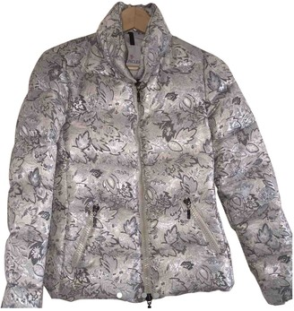 Moncler Silver Coat for Women