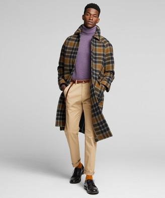 Todd Snyder Italian Wool Snap Raglan Coat in Olive