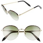 Victoria Beckham Women's Windsor 52Mm Round Sunglasses - Amber Tortoise