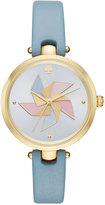 Kate Spade Women's Holland Violet Sky Leather Strap Watch 34mm KSW1231