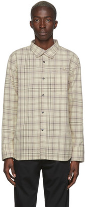 Off-White LHomme Rouge and Brown Work Overshirt
