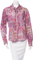 Etro Floral Ruffle-Trimmed Top