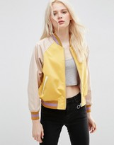 Asos Bomber Jacket in cropped Length with Metallic Trim