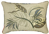 Veratex Key Largo Leaf-Embroidered Boudoir Pillow
