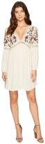 Brigitte Bailey Aubrie Long Sleeve Embroidered Dress Women's Dress