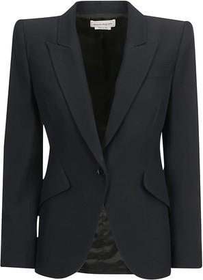 Alexander McQueen Single-Breasted Structured Blazer