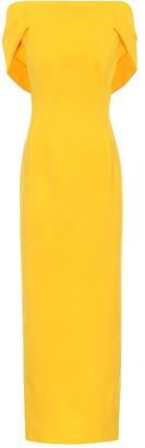 Oscar de la Renta Wool-blend crepe maxi dress