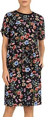 Gerard Darel Stacy Floral Print Sheath Dress