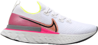 Nike React Infinity Run Flyknit Running Shoes - Platinum Tint / Black Pink Blast