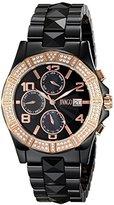 Jivago Women's JV0421 Prexy Analog Display Swiss Quartz Black Watch