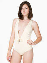 American Apparel Plunging One-Piece Swimsuit