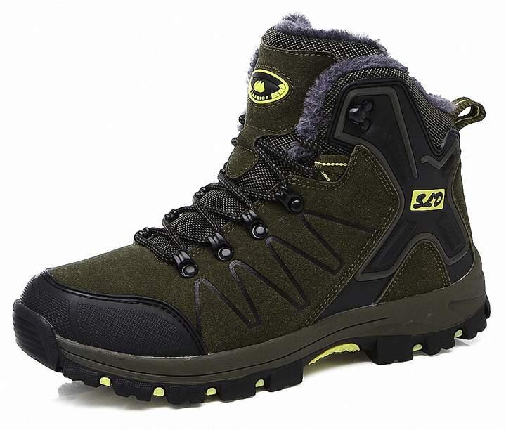 bbba49cb870e7 ZHENZHONG Women's Warm Black Rose Faux Fur Winter Trail Trekking Hiking  Mountain Boots