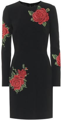 Dolce & Gabbana Floral stretch-crepe minidress